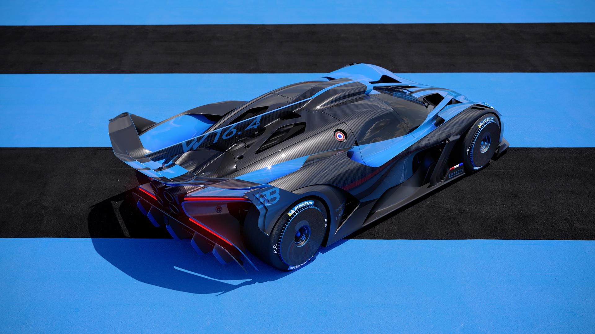 Bugatti bolide elevated rear three-quarter