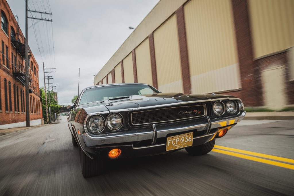 1970 Challenger front dynamic action close