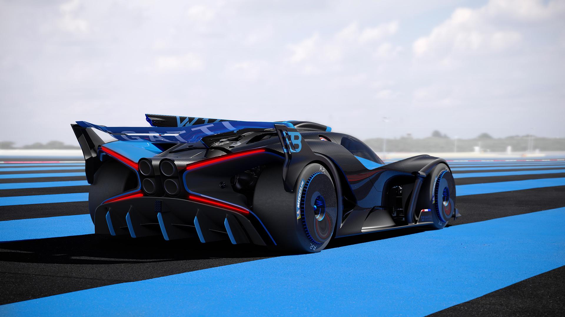 Bugatti bolide rear three-quarter