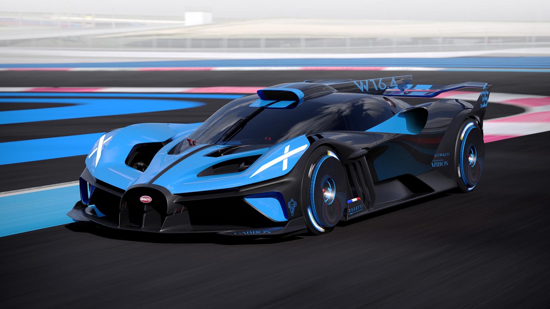 Bugatti bolide front three-quarter