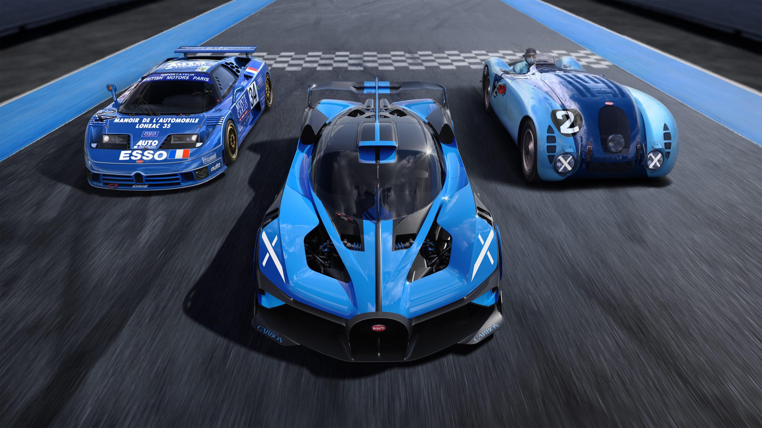 Bugatti bolide front on track