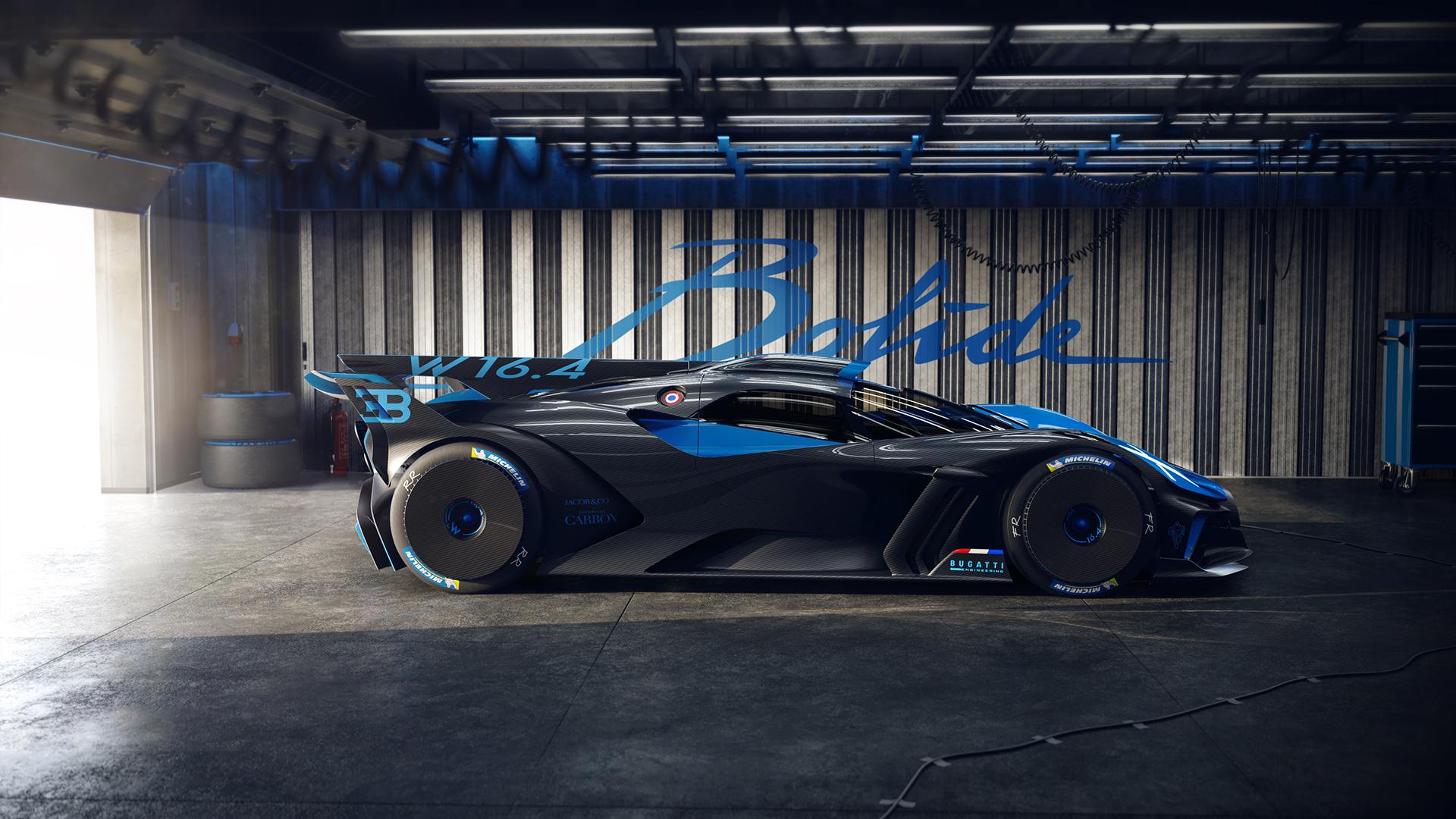 Bugatti bolide side profile