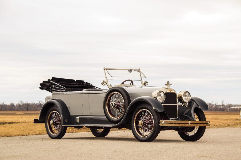 1922-Duesenberg-Model-A-Touring front three-quarter
