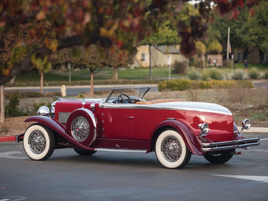 1929 duesenberg model j rear three-quarter