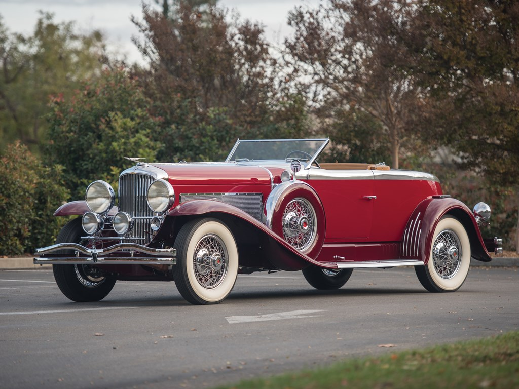 1929 duesenberg model j front three-quarter