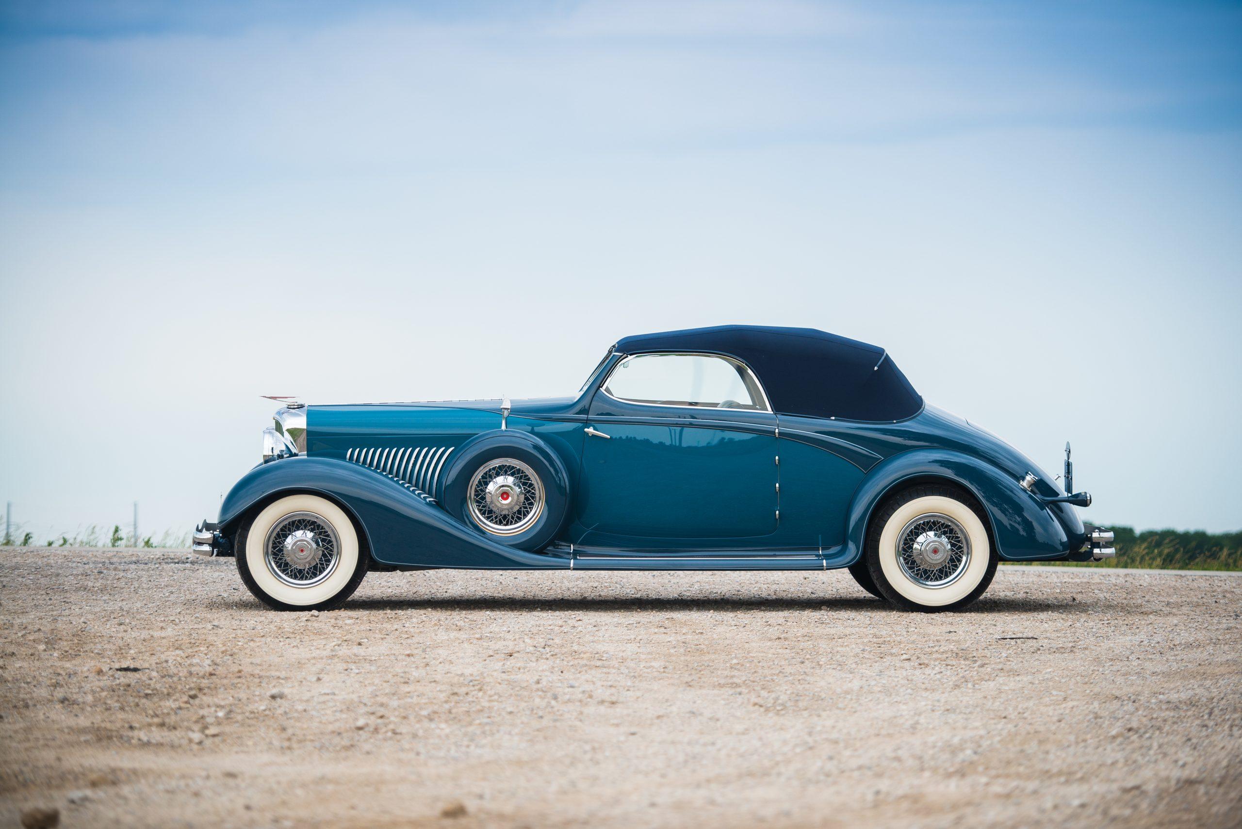 vintage duesenberg model j side profile