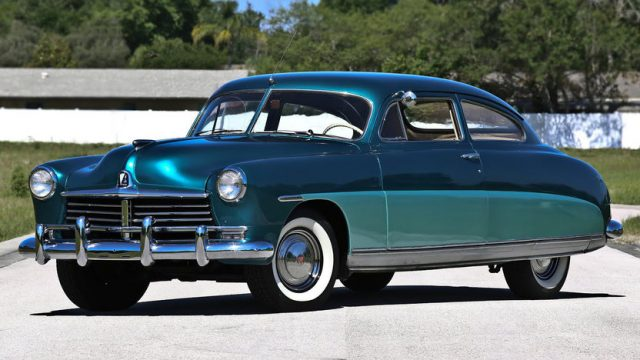 1949 Hudson Super Six Brougham Coupe Front Three-Quarter