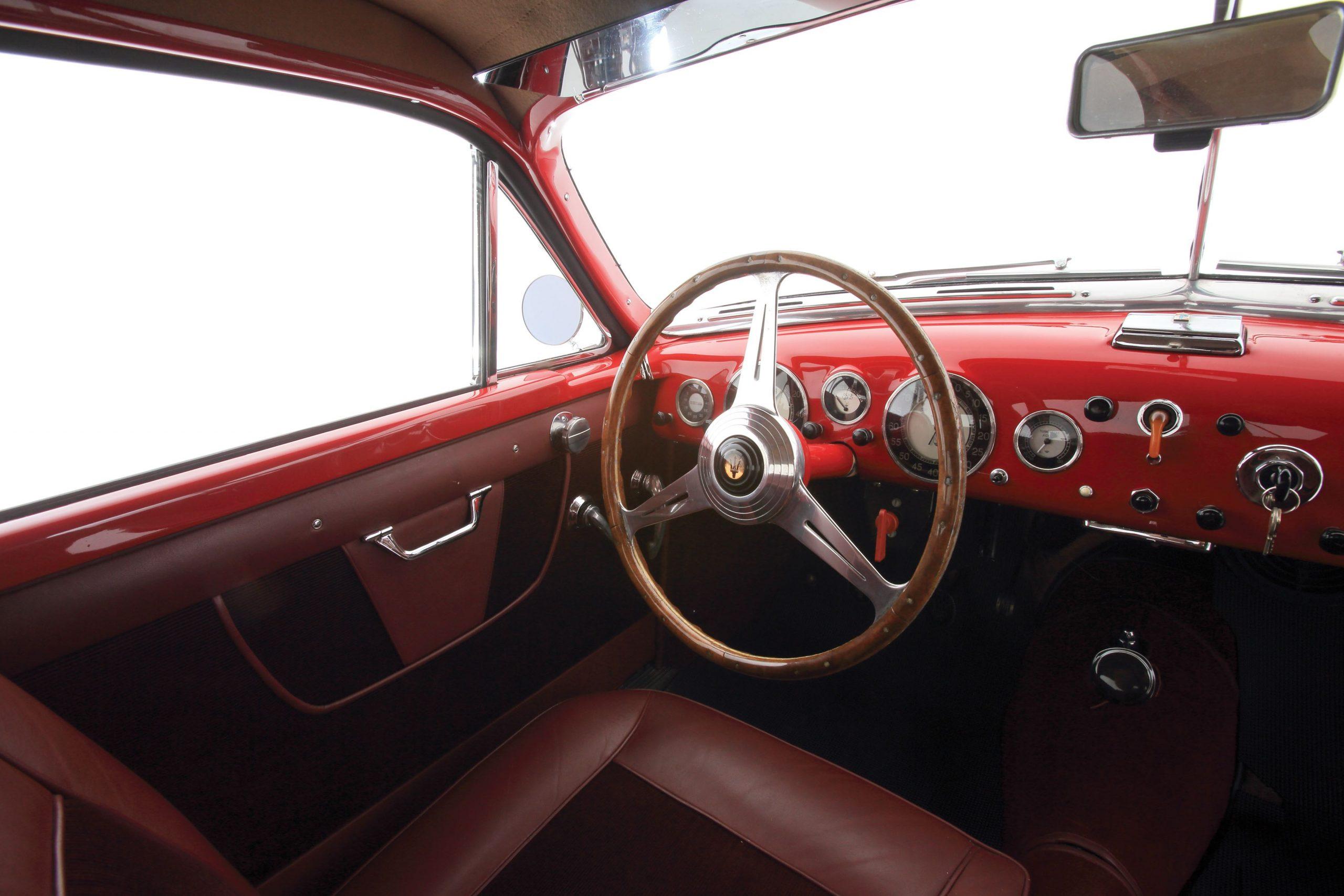 1950 Maserati A6G interior