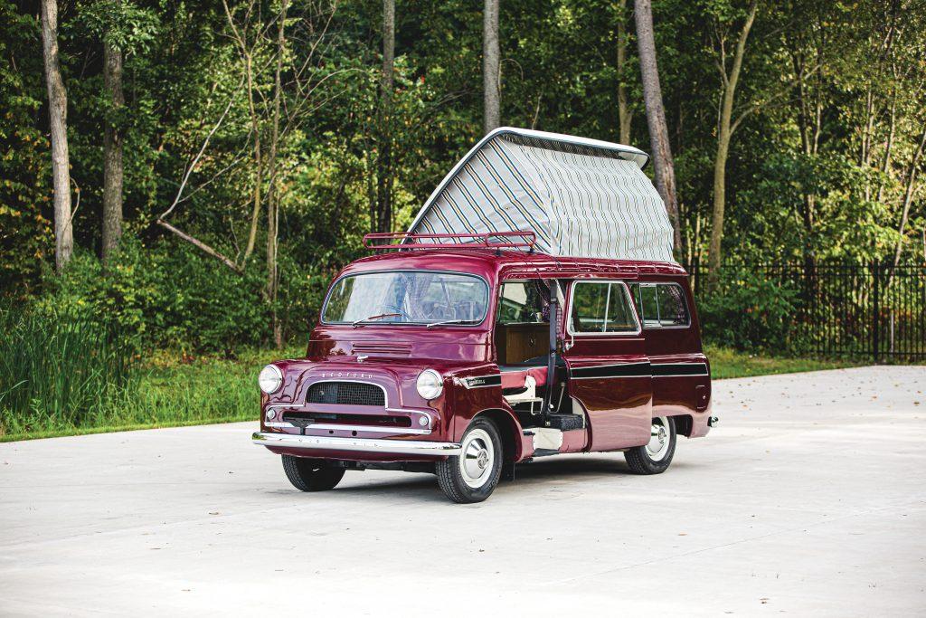 1961 Bedford CA Dormobile Caravan front three-quarter