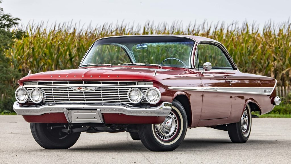 Red Chevrolet Impala SS Bubble Top Front Three-Quarter