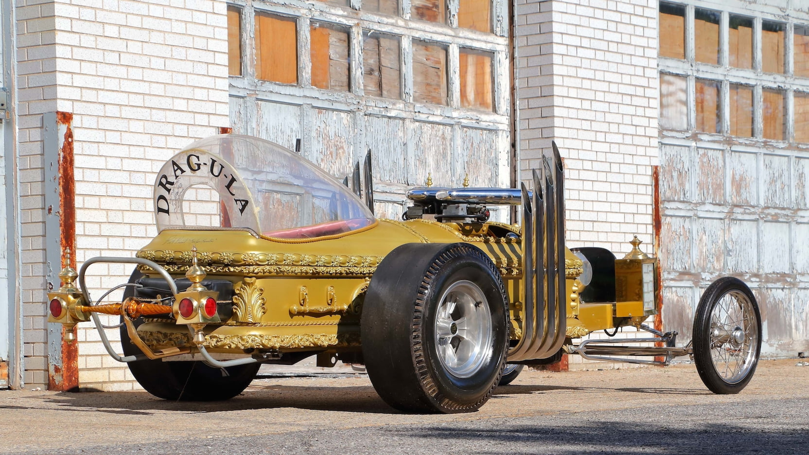 1964 DRAG-U-LA custom movie car rear three-quarter