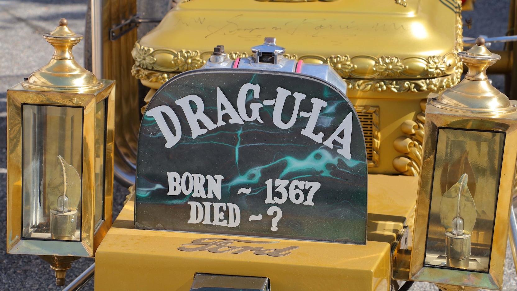 1964 DRAG-U-LA hot rod custom tombstone detail