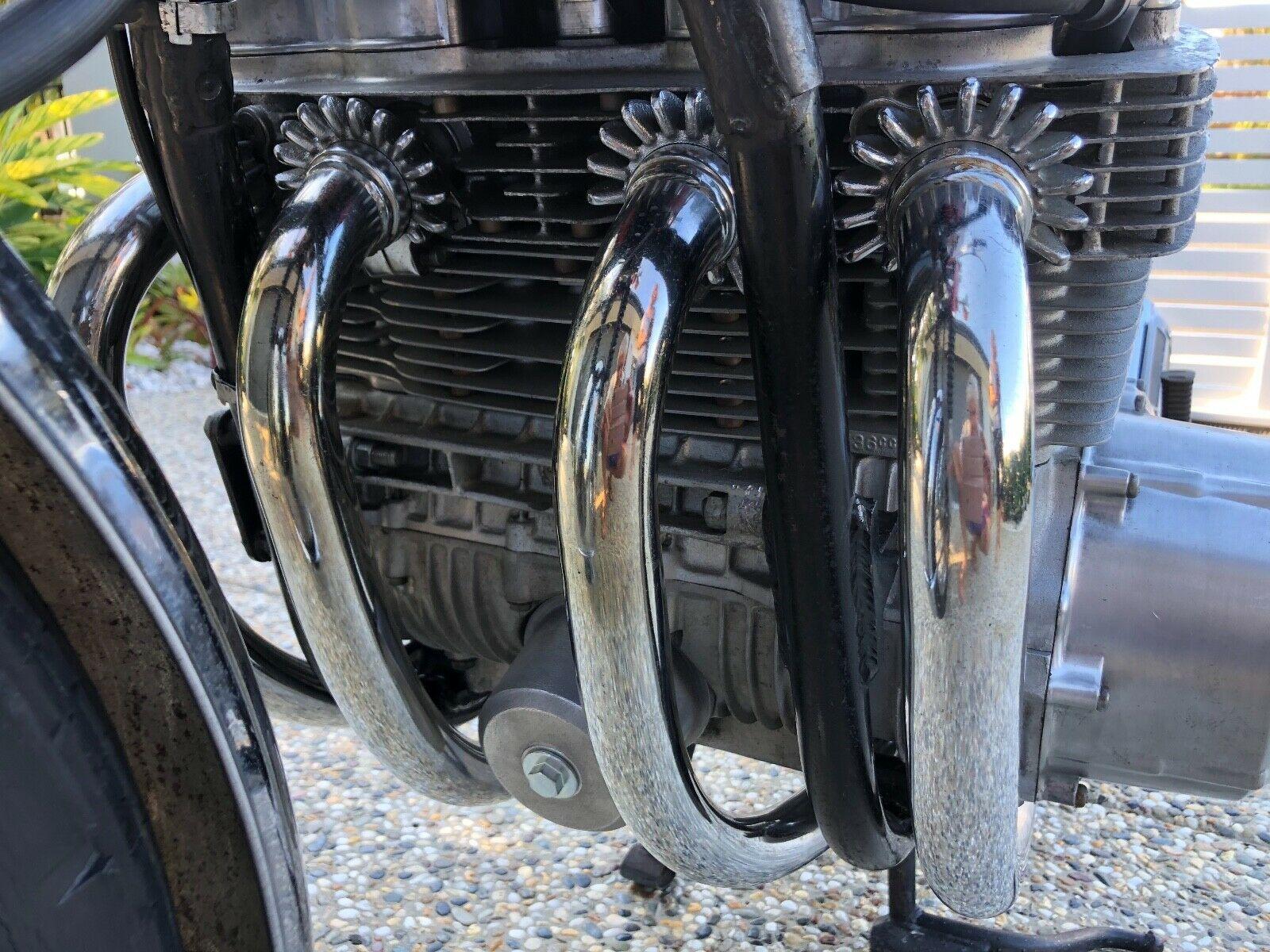 1969 Honda CB750 Sandcast K0 engine pipes
