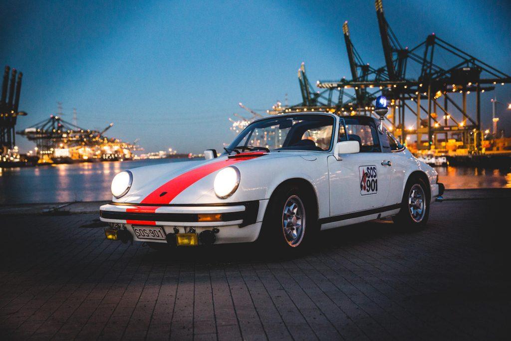 1976 belgian porsche 911 front three-quarter harbor