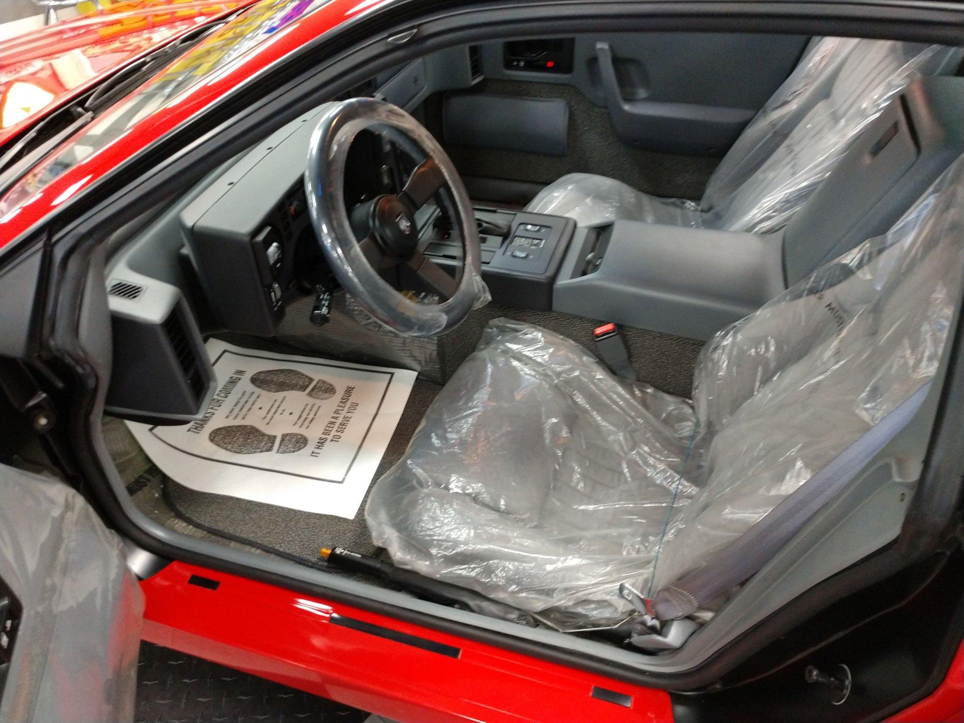 1988 pontiac fiero gt interior
