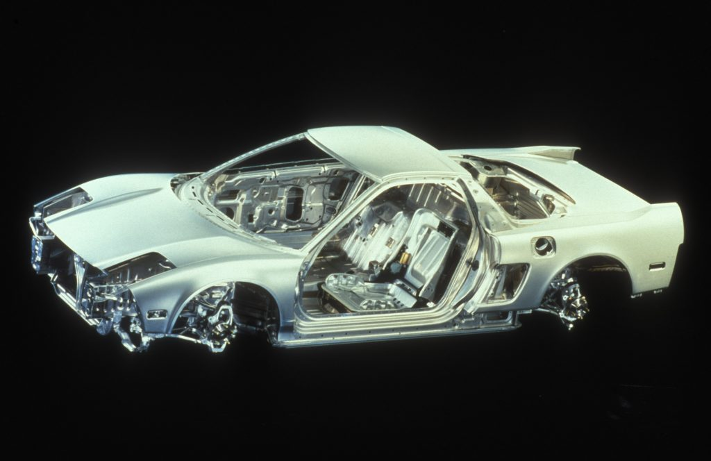 1991 Acura NSX aluminium unibody frame