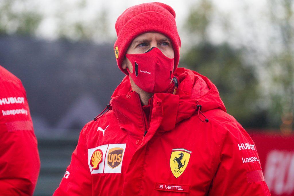 sebastian vettel race car driver headshot