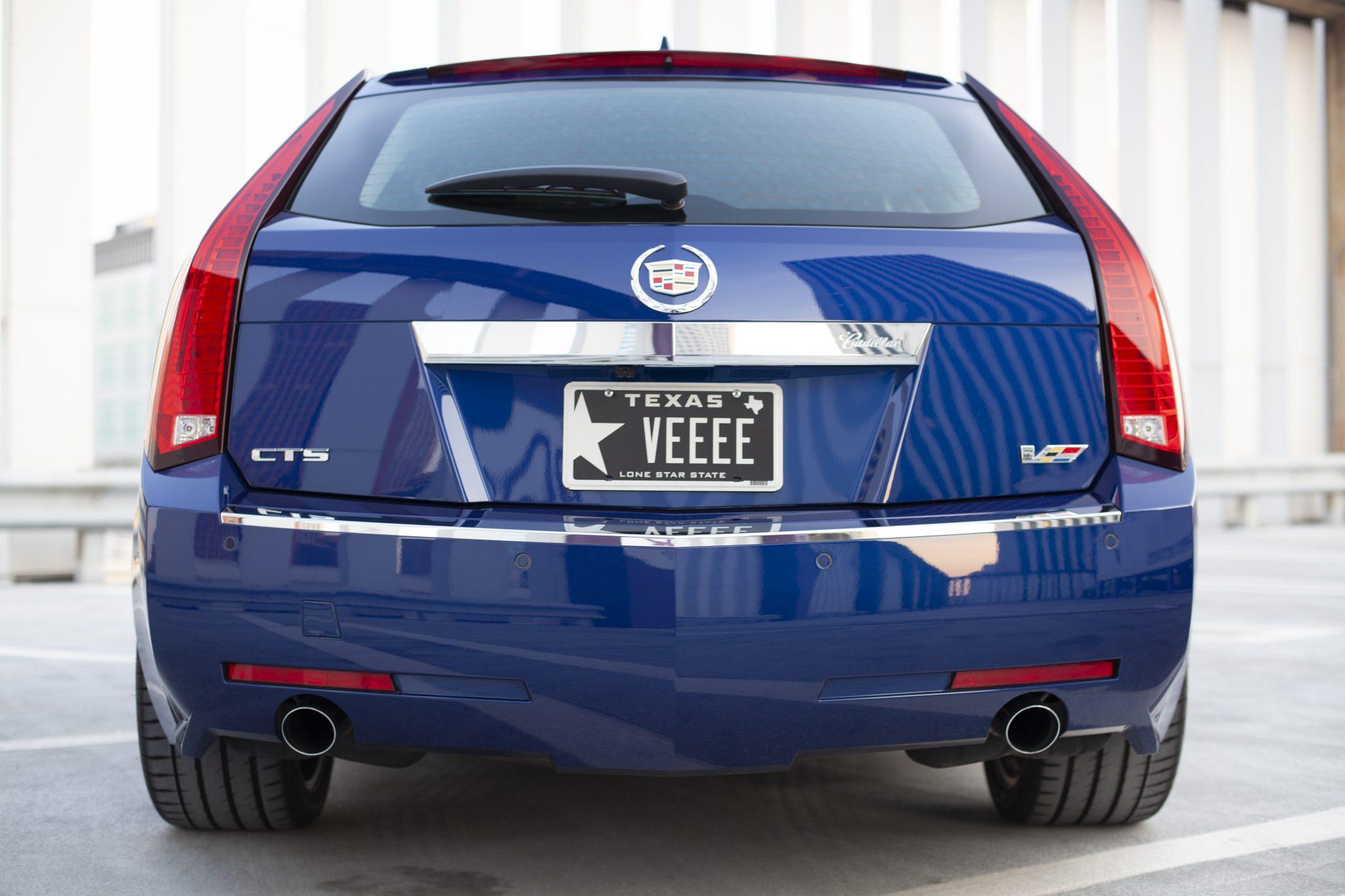 2012 Cadillac CTS-V Wagon rear