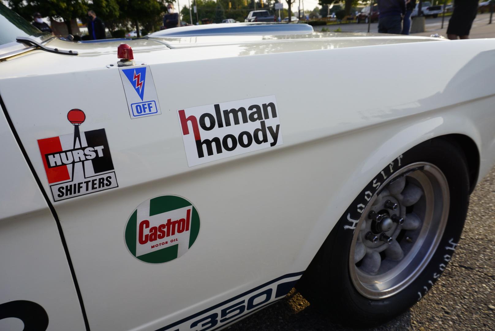 1965 Shelby GT350 holman moody sticker