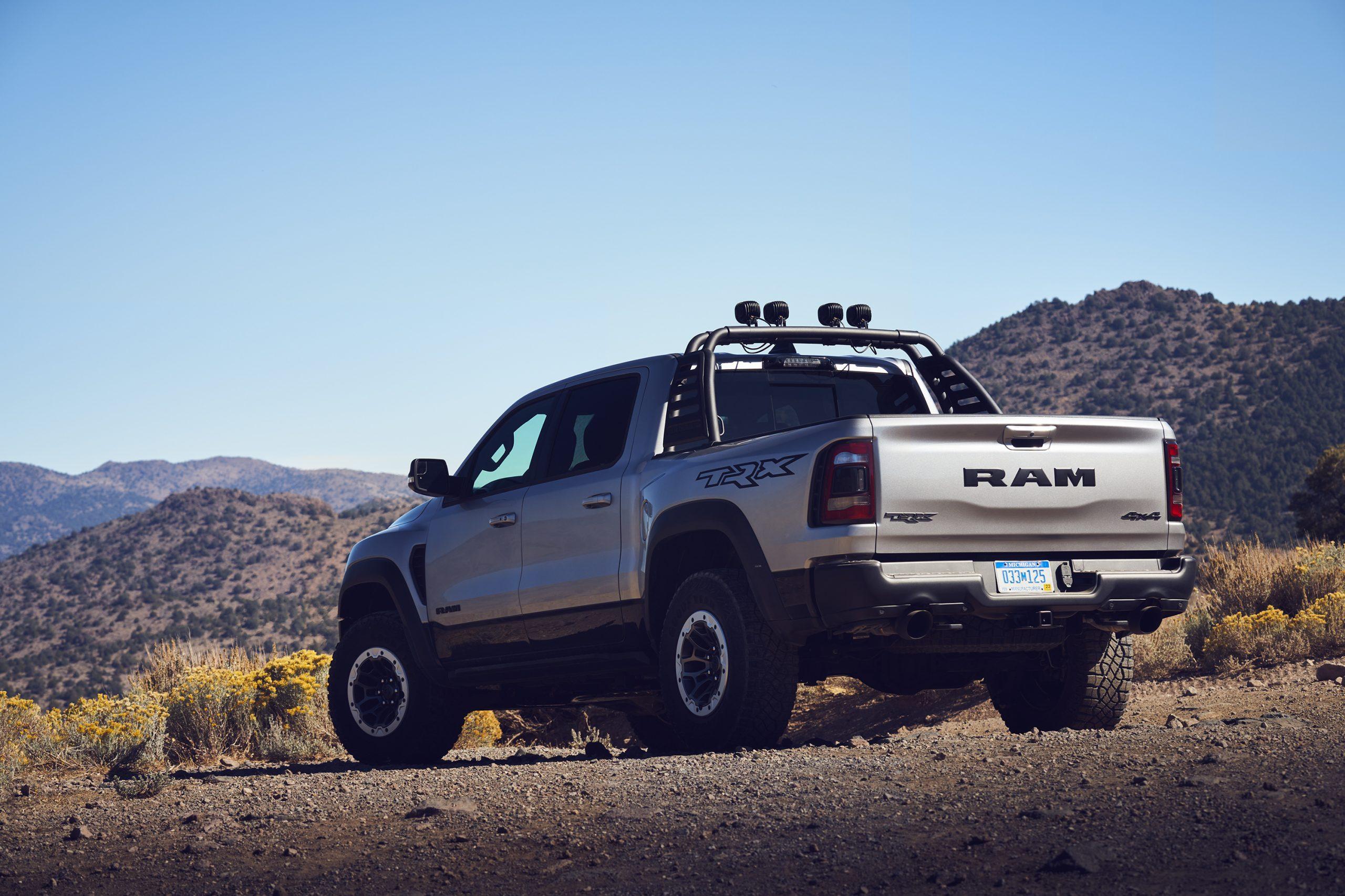 2021 Ram 1500 TRX rear three-quarter close