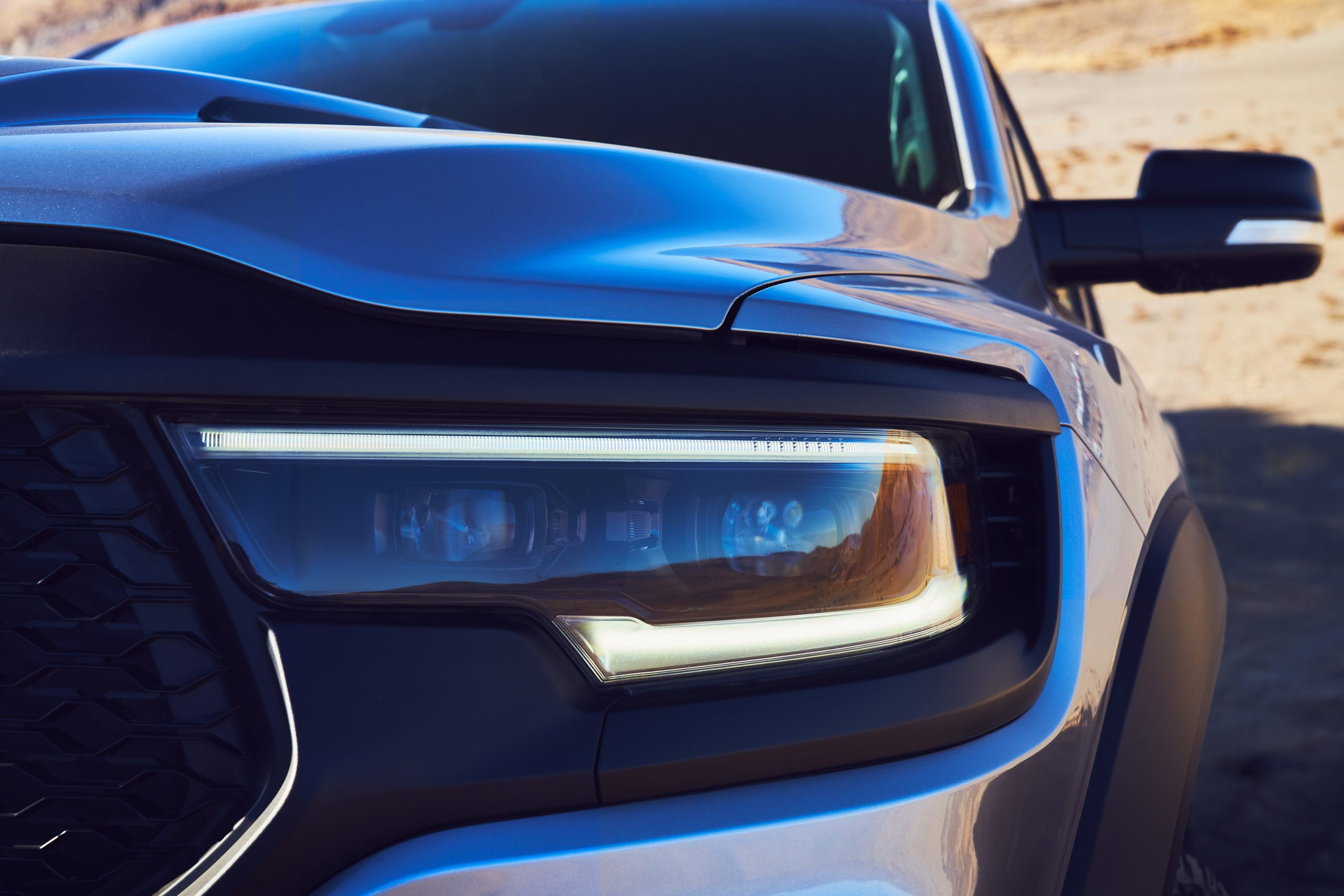 2021 Ram 1500 TRX headlight detail close