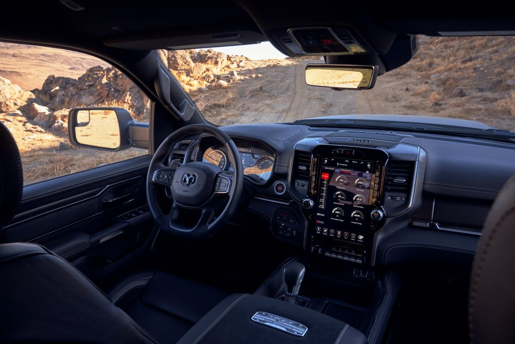 2021 Ram 1500 TRX interior front angle