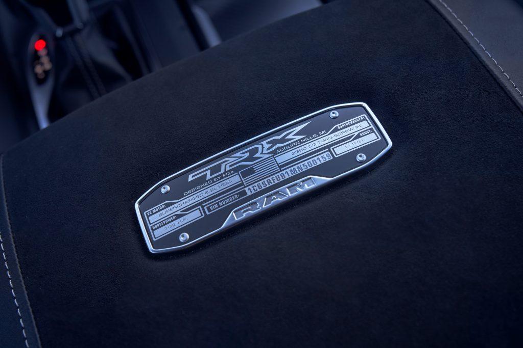 2021 Ram 1500 TRX placard detail