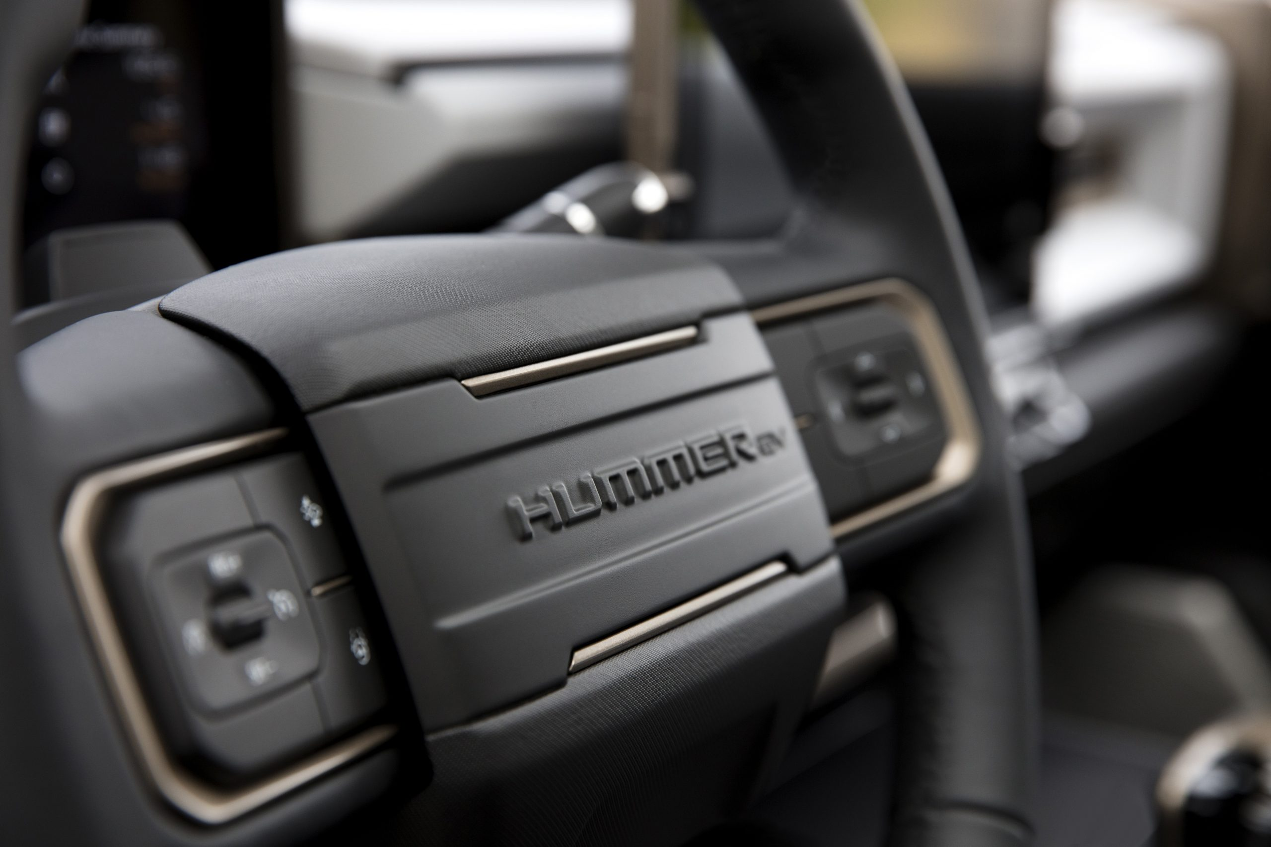 2022 GMC Hummer EV steering wheel