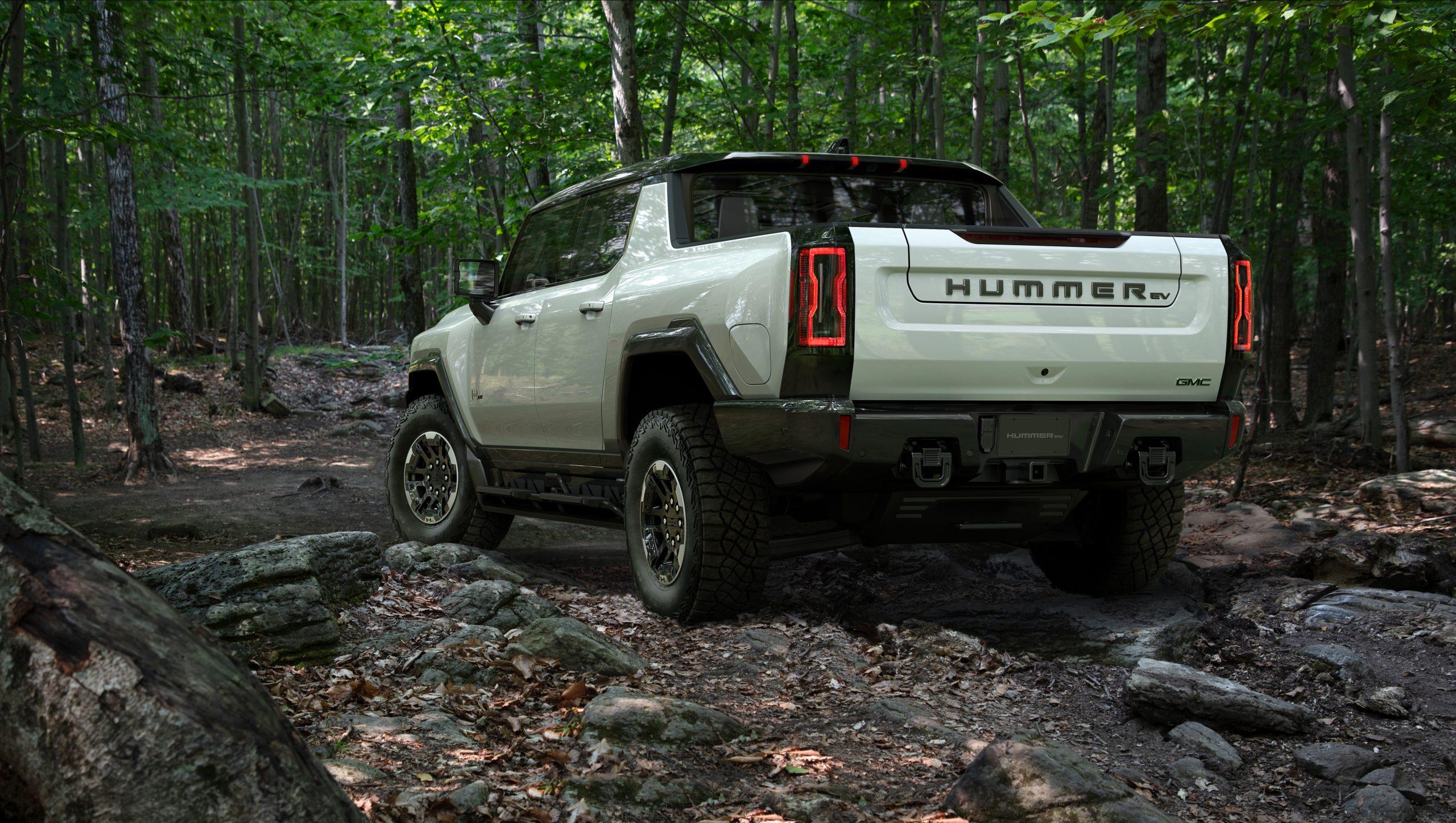 2022 GMC Hummer EV rear three quarter