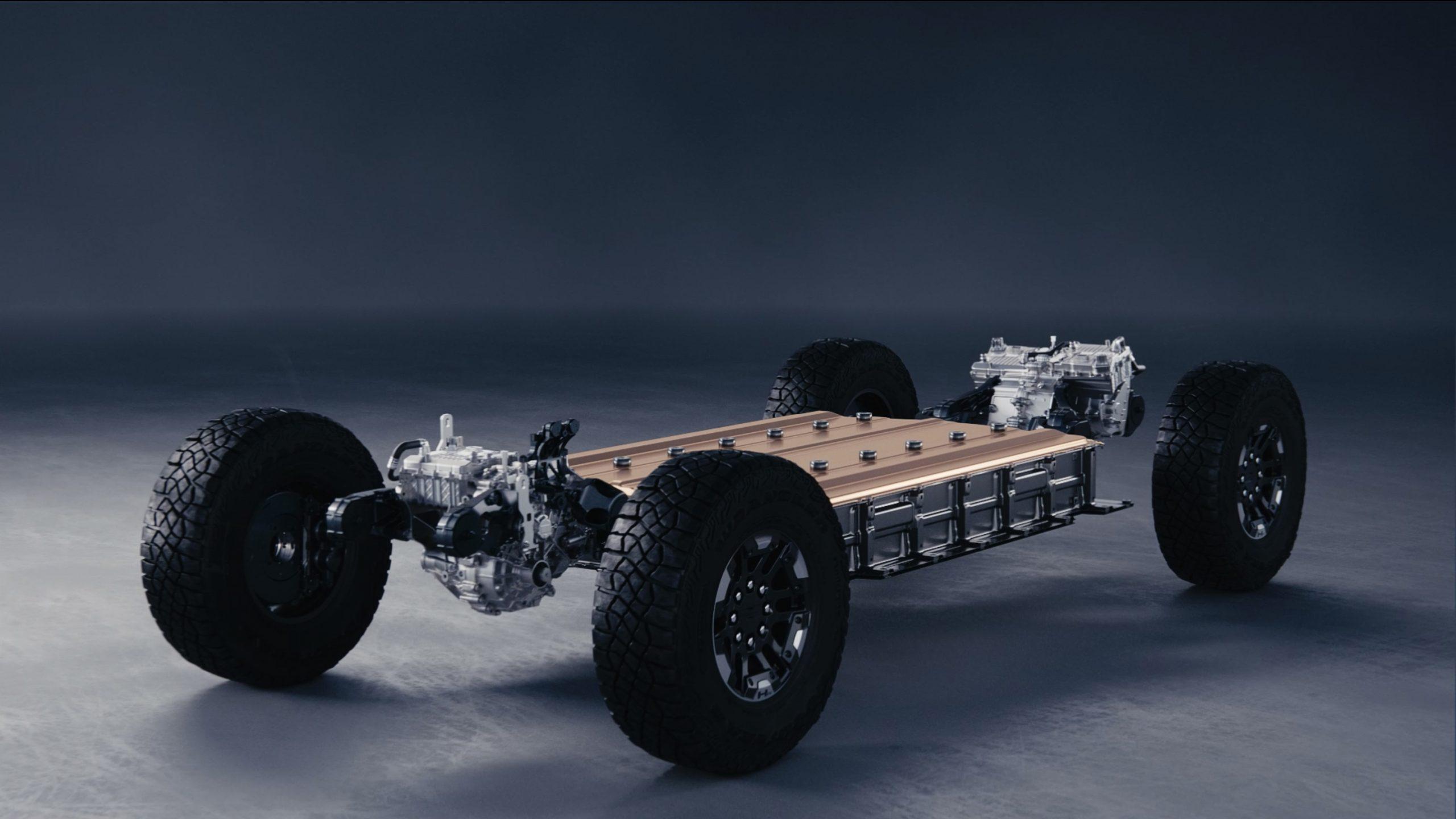 2022 GMC Hummer EV chassis