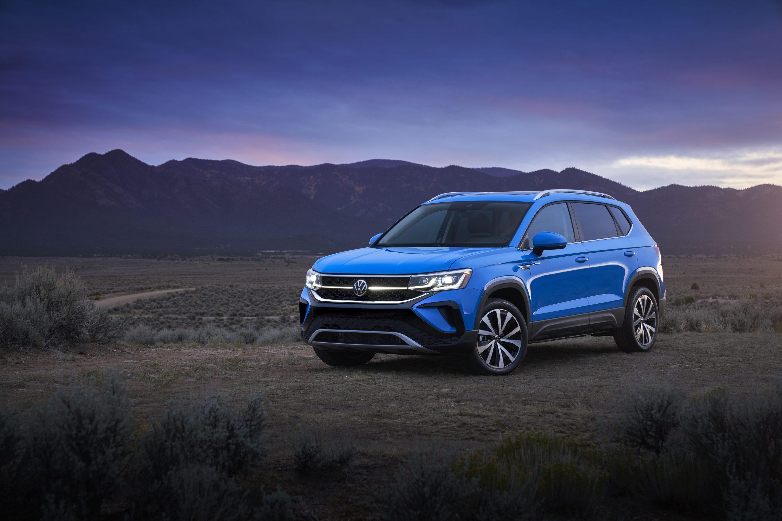 2022 Volkswagen Taos hero front three quarter