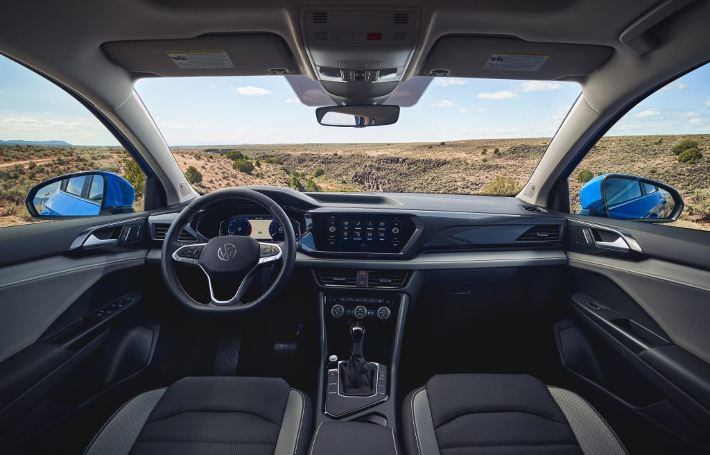 2022 Volkswagen Taos front center interior