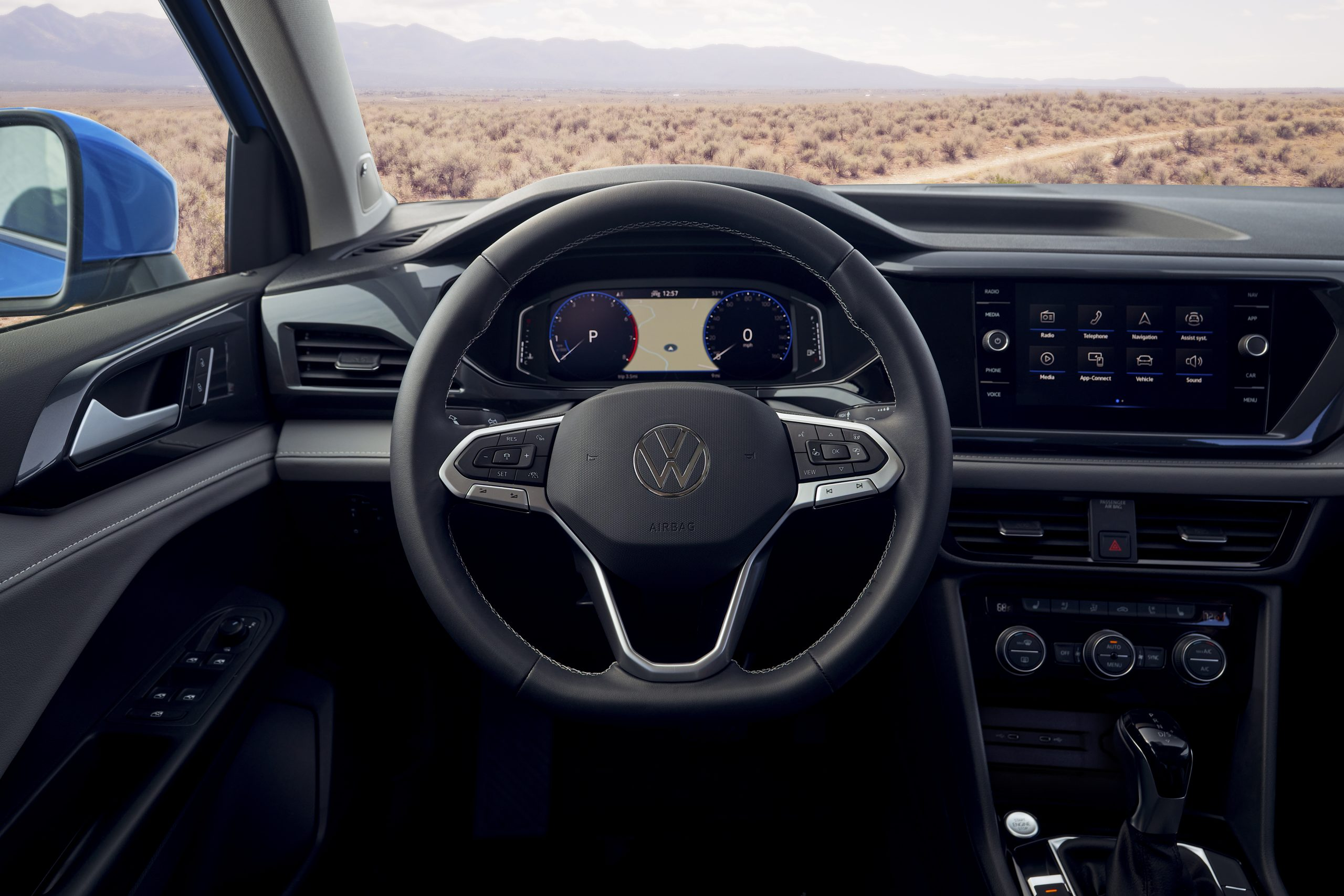 2022 Volkswagen Taos view from drivers seat