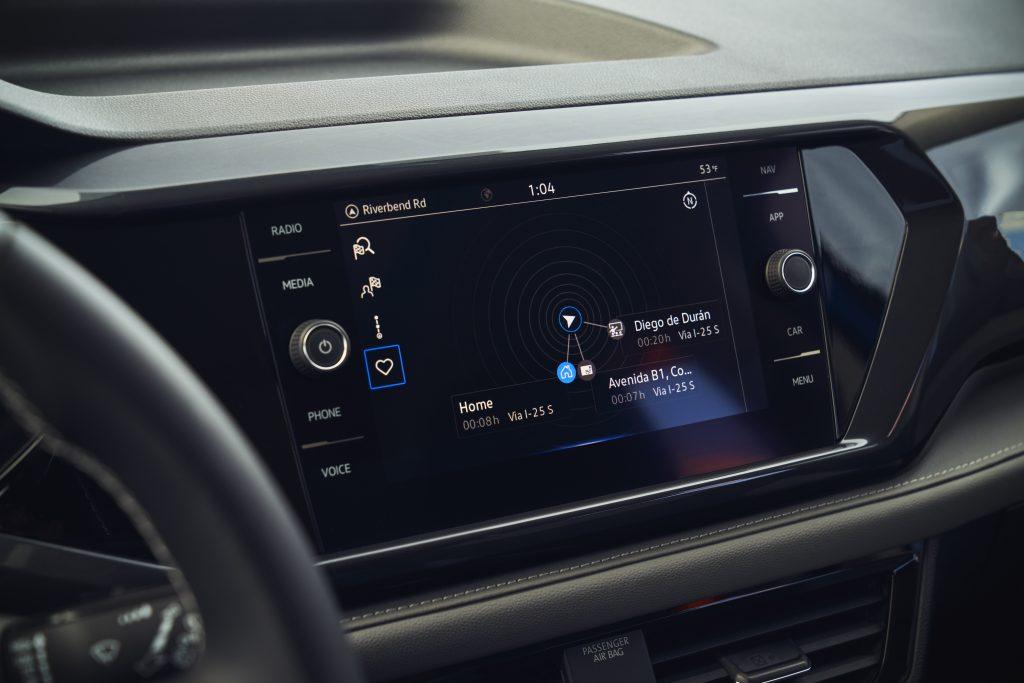 2022 Volkswagen Taos center infotainment screen