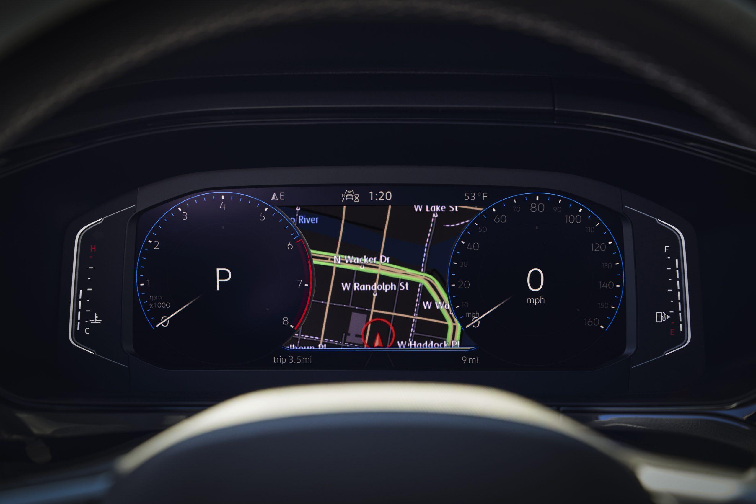 2022 Volkswagen Taos digital dash