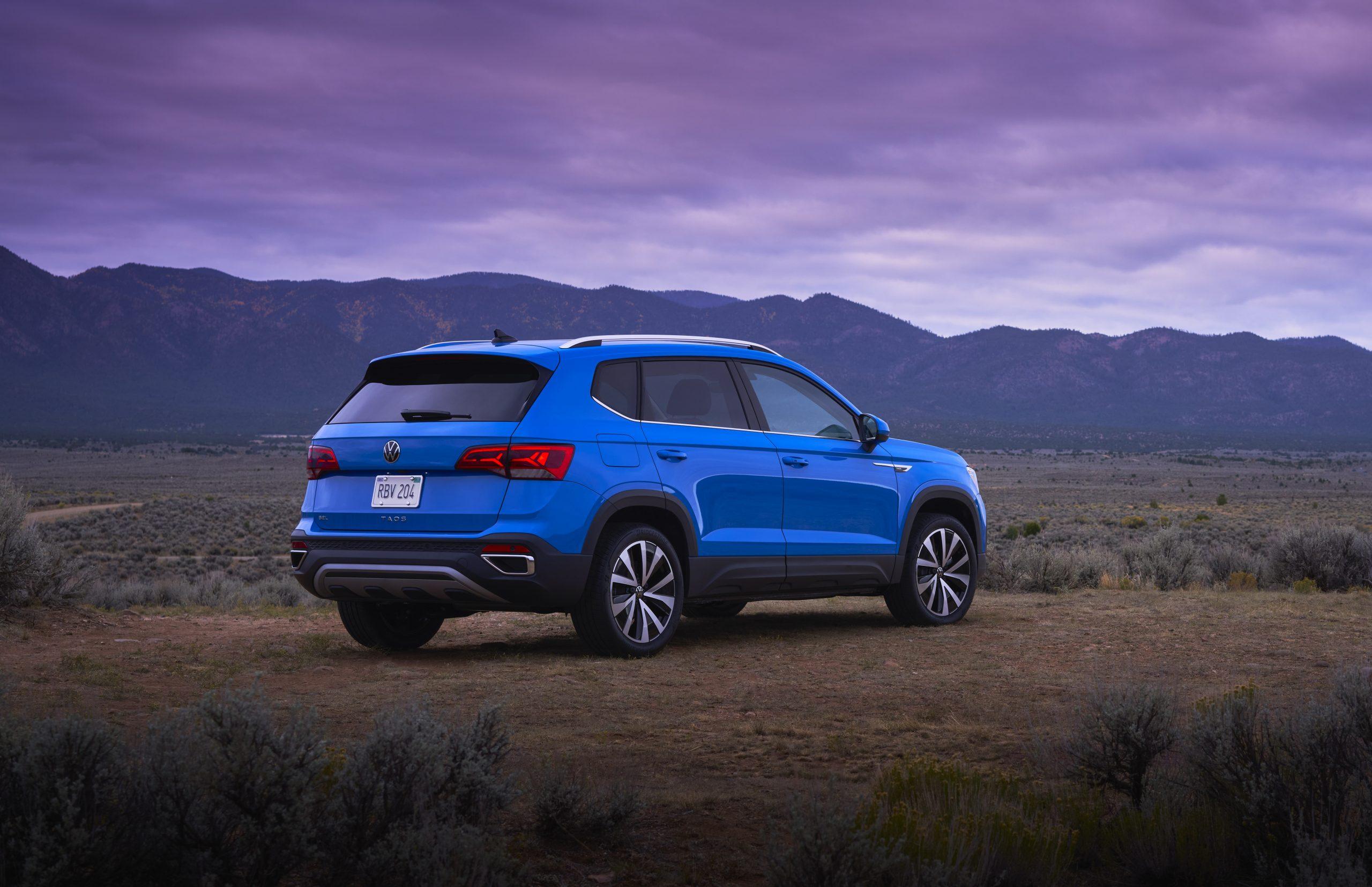 2022 Volkswagen Taos static rear three quarter passenger