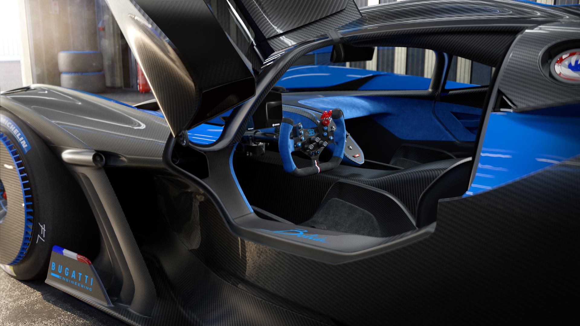 Bugatti bolide cockpit inside look