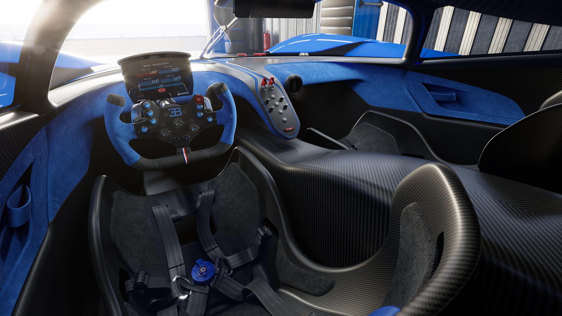 Bugatti bolide interior cockpit