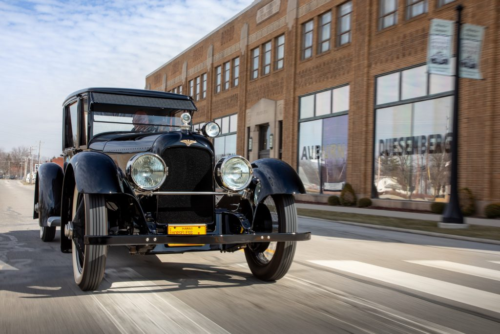 Duesenberg Model A front three-quarter action