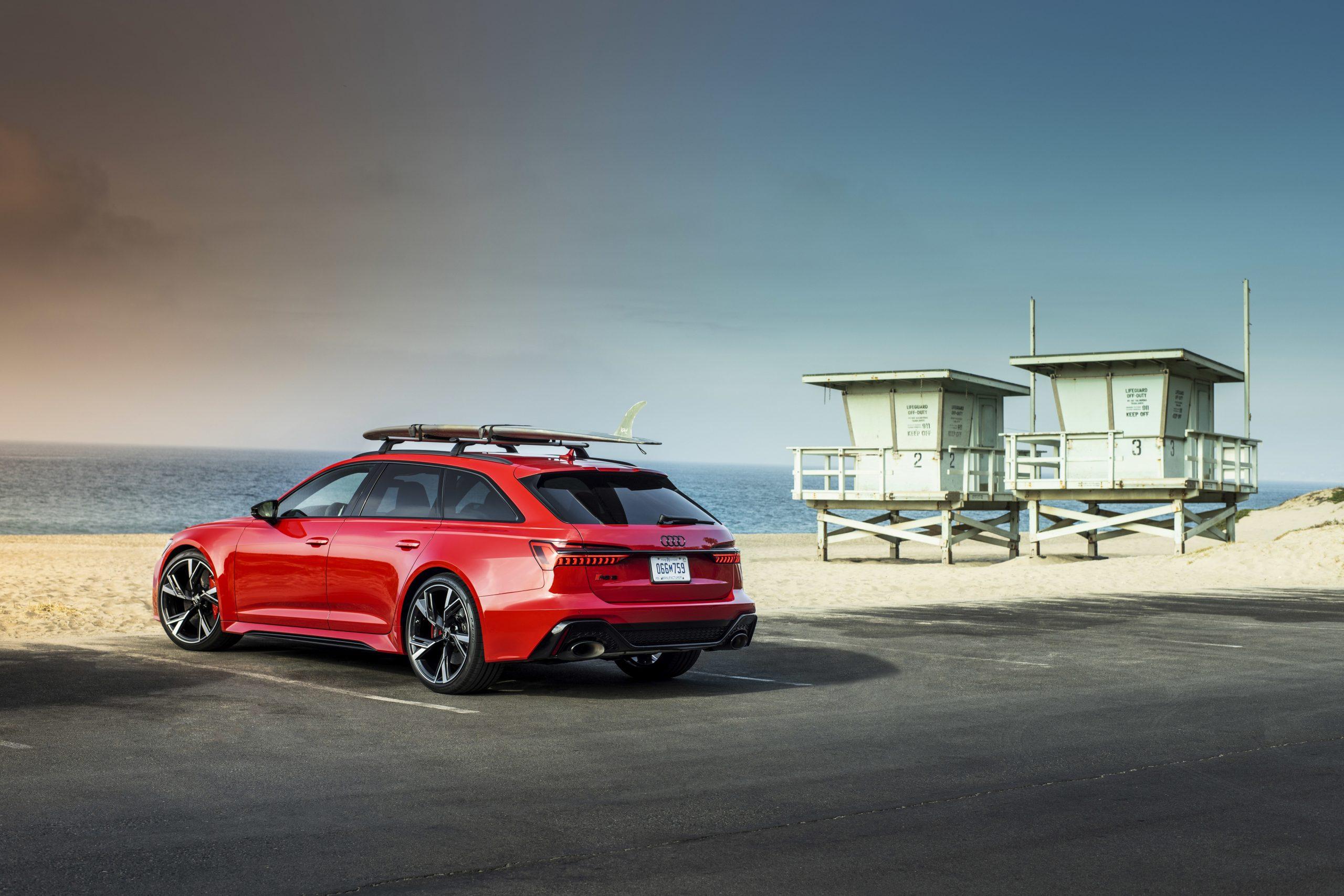 2021 Audi RS 6 Avant rear roof rack wagon