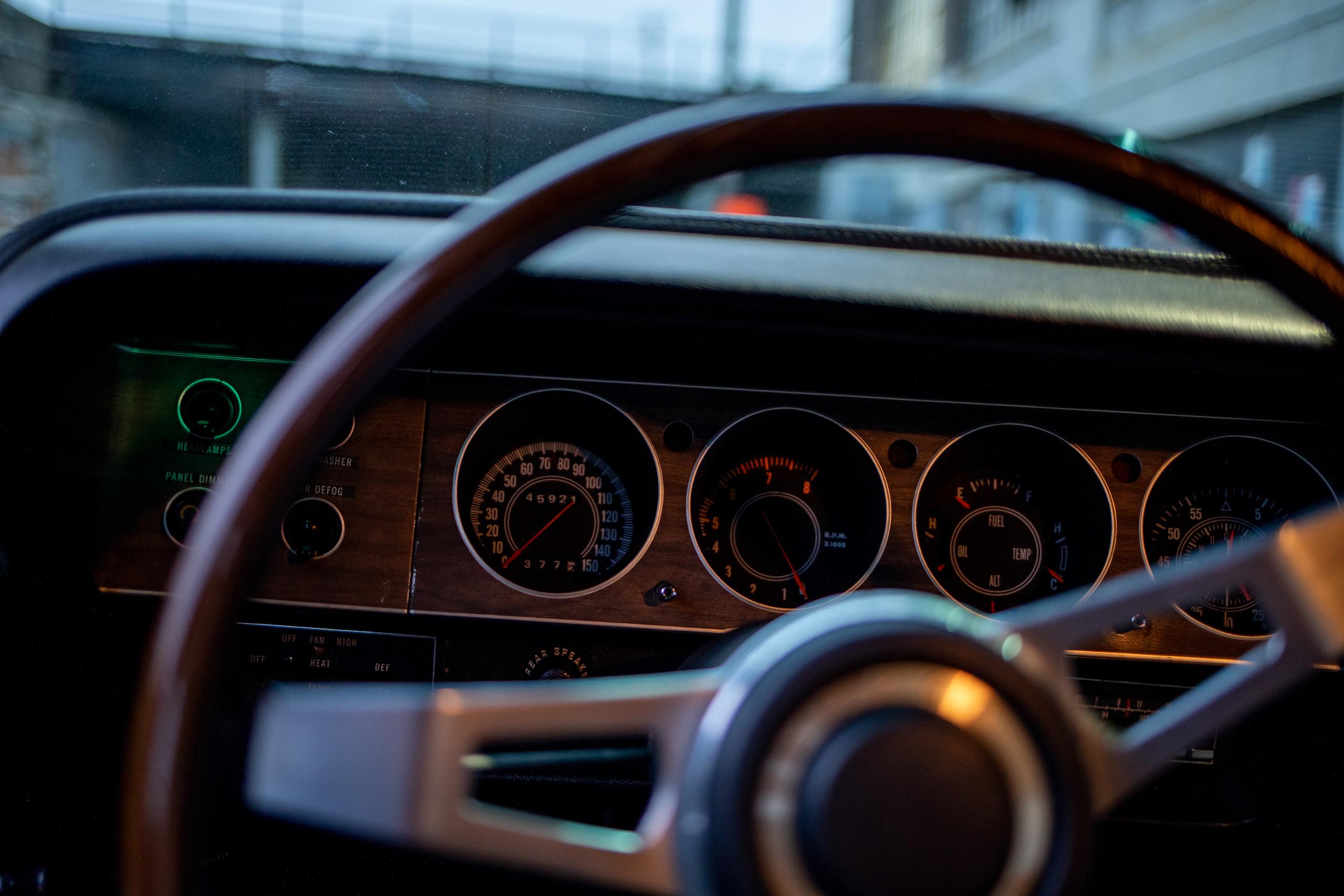 1970 Challenger interior dash