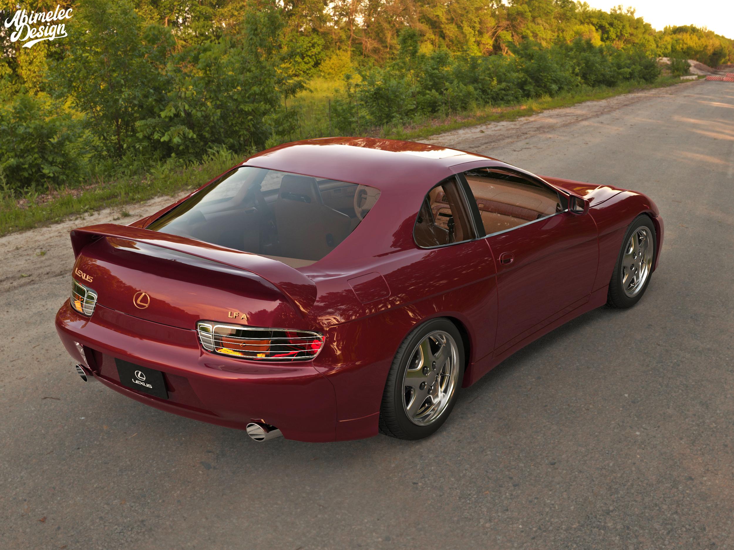 1997 Lexus LFA rear three quarter