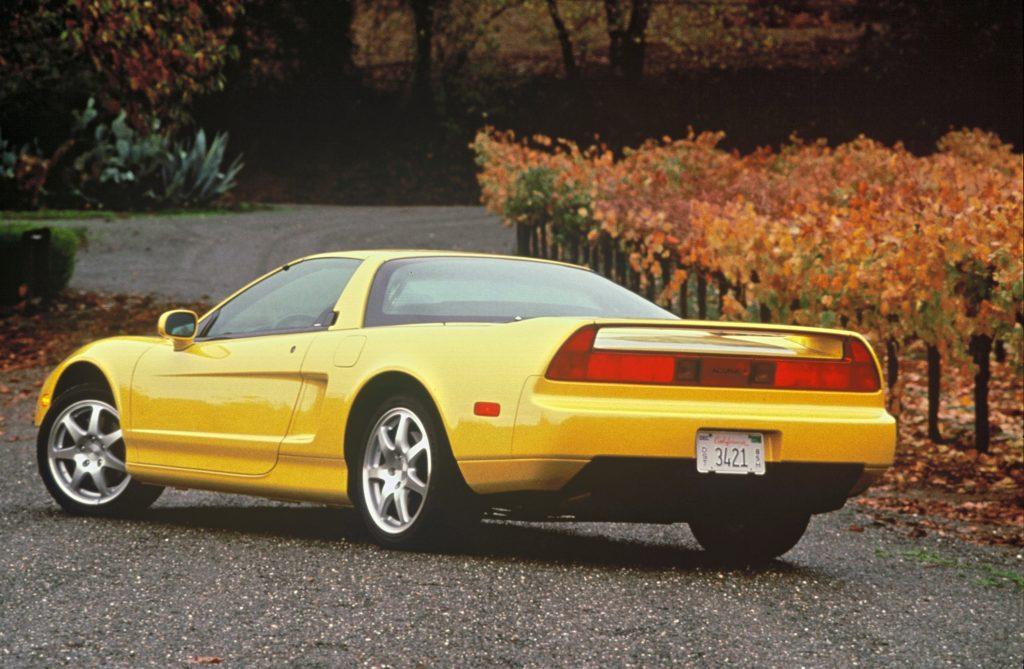 1997 Acura NSX-T rear three-quarter