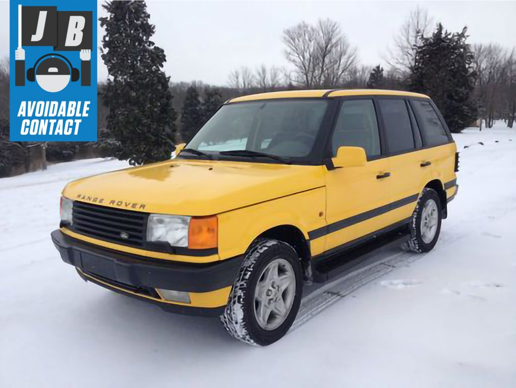 Avoidable contact range rover vitesse front three-quarter