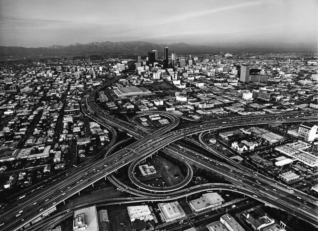 1980 aerial photo of downtown los angeles