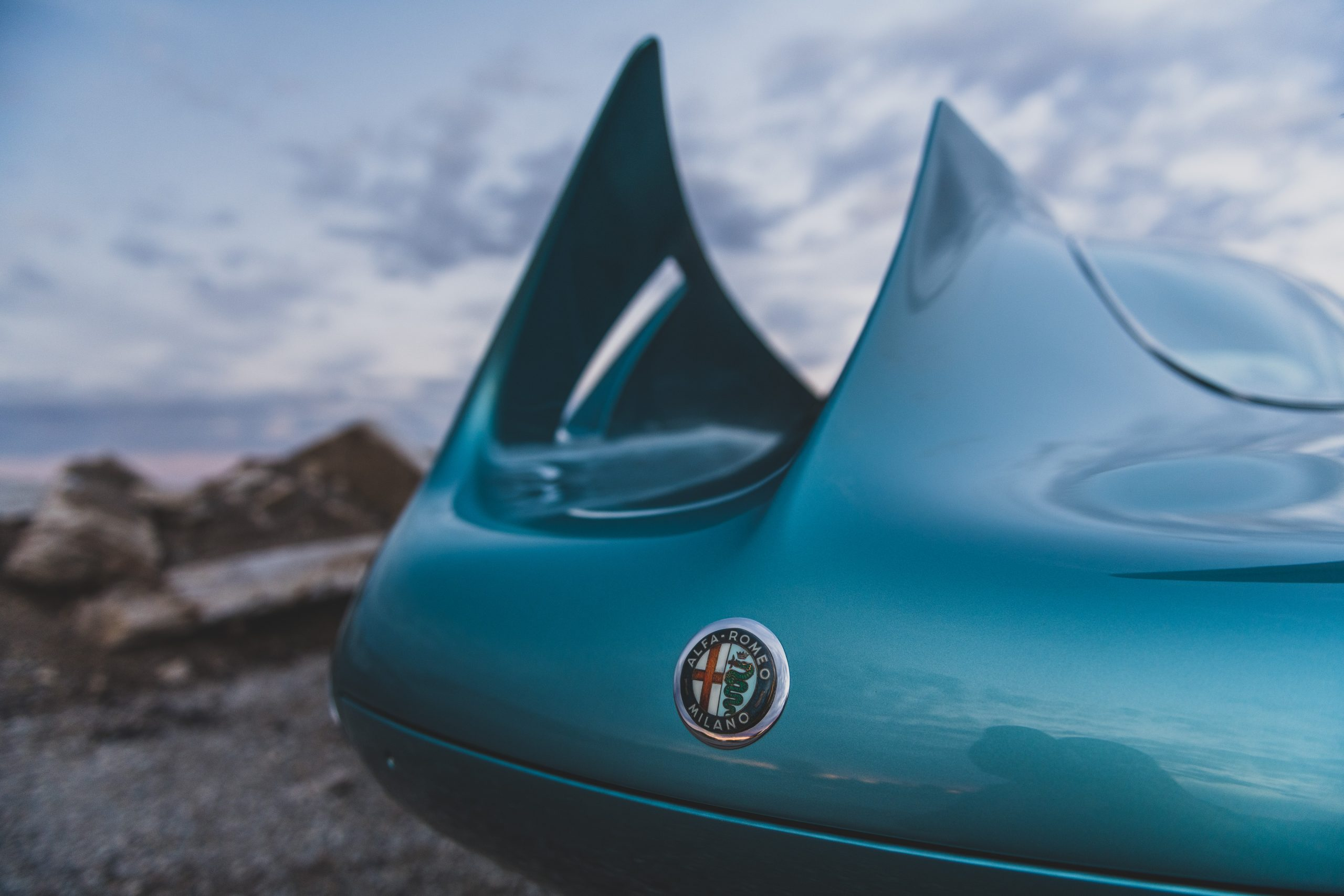 Alfa Romeo Berlina Aerodinamica Tecnica fins