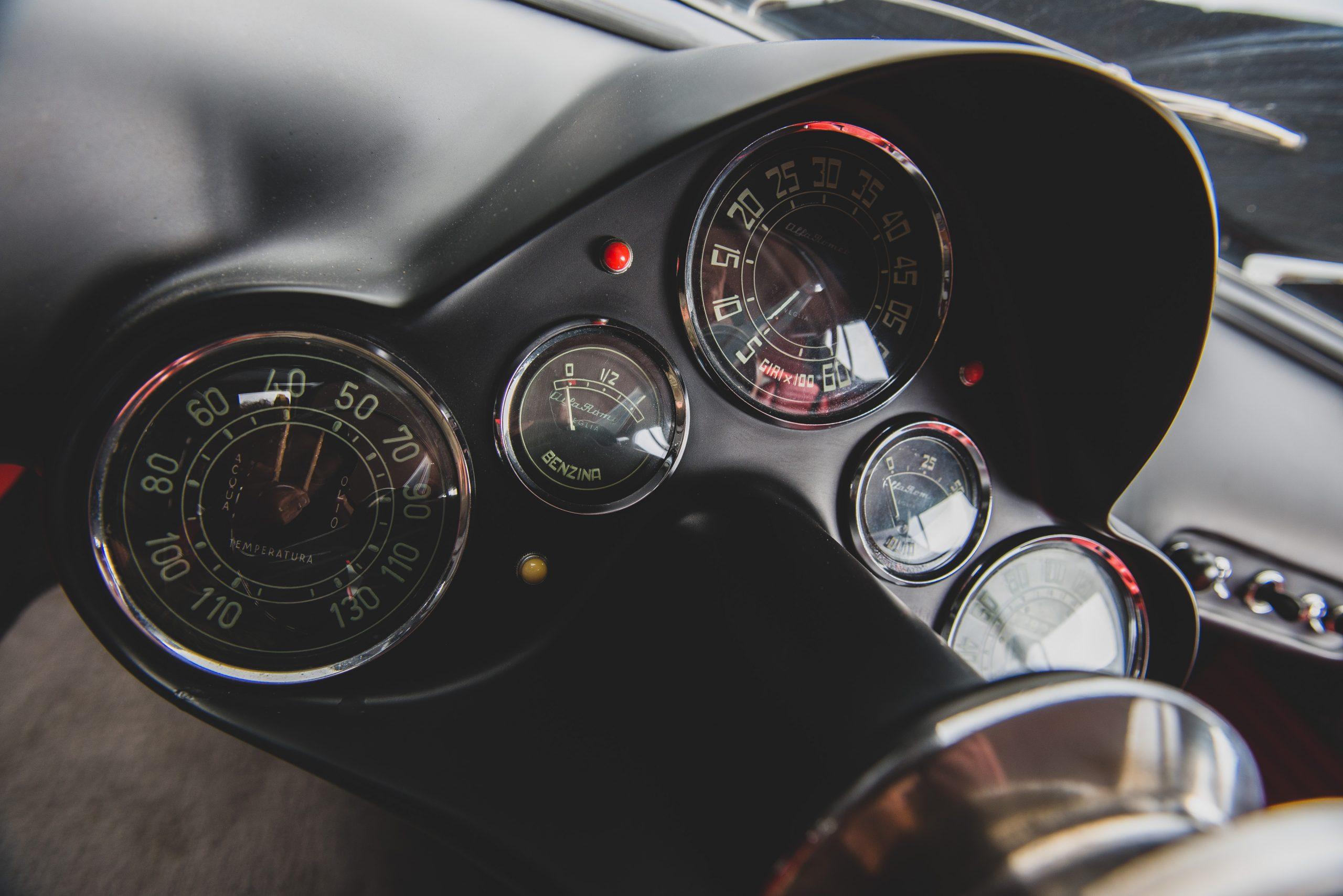 Alfa Romeo Berlina Aerodinamica Tecnica gauges
