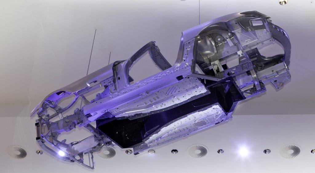Mercedes AMG carbon fiber tunnel bonded to aluminium