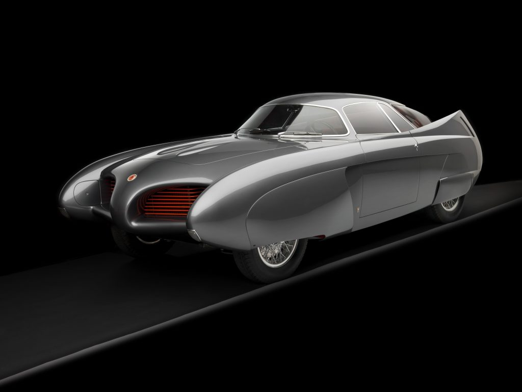 1953 Alfa Romeo Bertone B.A.T 5 Gray 3/4 Front View Studio