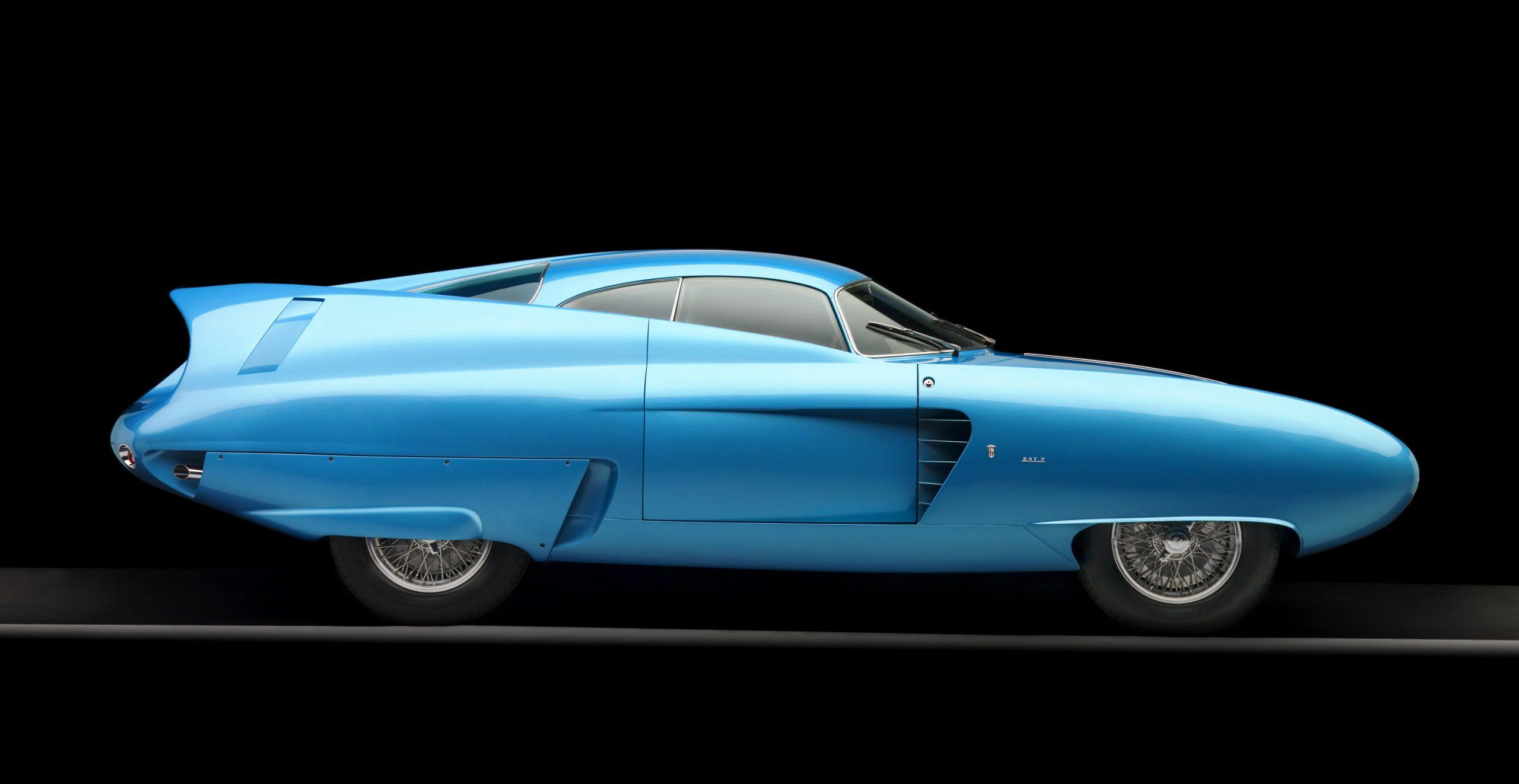 1954 Alfa Romeo Bertone B.A.T. 7 Teal Profile View Studio